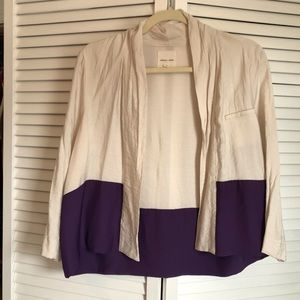 Off white & Purple Blazer Cardian